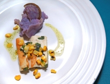 Trout and purple potato by chef Brian Yazzie.