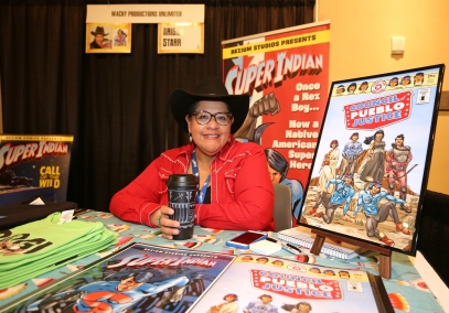 "Arigon Starr is the creator of ""Super Indian."""