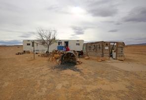 Sheep camp.