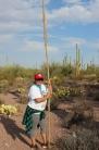 Jacelle Ramon-Sauberan with her Kuipad (picking stick).