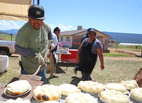 Pueblo bread demo.
