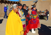 Women from Taos lead our group around the Pueblo.