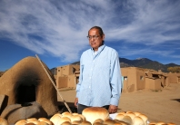Pastry chef, Geronimo Romero and his bread.